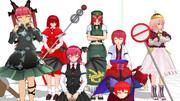 赤髪's(一人ピンク)