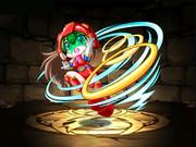 パズドラ風レトロゲームギャルカード〜ワンダーモモ(変身後)