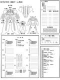 バトルテック BATTLETECH メックシート 実践ゲーム用紙 修正版