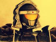 仮面ライダー黒影を描いてみた。