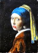 真珠の耳飾りの少女 水彩模写