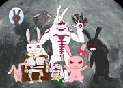 ウサギのような生き物たち