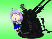 【MMD艦これ】妖精さん(25mm連装機銃)【モデル配布】