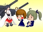 【MMD艦これ】妖精さん(15.2cm単装砲/35.6cm連装砲)【モデル配布】
