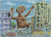 ET、廃墟にて