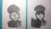 SEKAI_NO_OWARIのNakajinさんとDJ Loveさんを描いてみた。