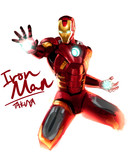 Iron Man落書き