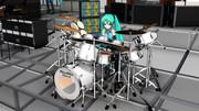 【MMD】YMO 1980 年ライブ風 ドラムモーション - ドラム