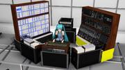 【MMD】YMO 1980 年ライブ風 ドラムモーション - モジュールシンセ