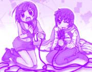 VOCALOID・MEIKOとKAITO おすわり歌い