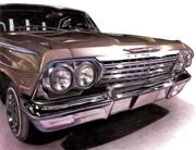 色鉛筆画「Chevrolet Impala 1962」