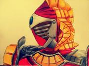 仮面ライダーバロン マンゴーアームズを描いてみた。