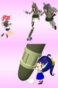 【MMD艦これ】妖精さん(61cm四連装(酸素)魚雷)【モデル配布】