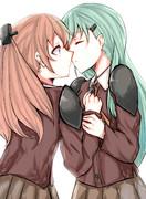 二隻は幸せなキスをして終了
