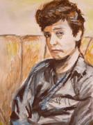 若き日のボブ・ディランを水彩で描きました。