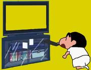 テレビをつける幼少期MUR手描きGB