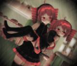 重音テト:優しい姉と素直になれない妹【油絵風味】