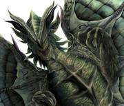 緑色の爬虫類