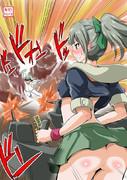 提督を14cm単装砲で撃つ夕張さん【2014/03/19】