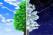 昼と夜、春と冬