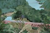 大井川鐵道 奥大井湖上駅を上から