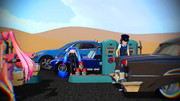 アメリカンなガソリンスタンド