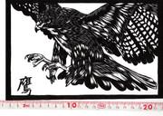 鷹さんの切り絵