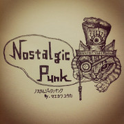 NostalgicPunk(ノスタルジックパンク)ロゴ ペン画