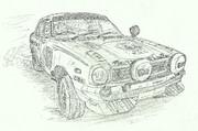 三菱ランサー1600 GSRラリーカー