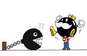 テーマ「できるだけ公式イラストっぽく、パワースターをダブルゲットしようとするマリオを描いてみた。