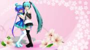 かこみき式蒼姫ラピスとマシシ式ミクV3で桜の舞
