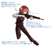 小銃の構え方がおかしいとの指摘