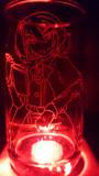 岡崎夢美をグラスに彫ってみた