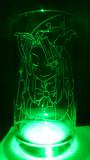 魅魔様をグラスに彫ってみた2