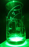 魅魔様をグラスに彫ってみた3