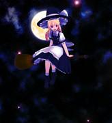 月夜と魔理沙