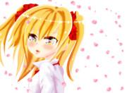 桜吹雪と女の子