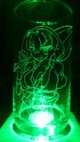 幽香をグラスに彫ってみた2