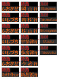 JR四国8000系 行先表示