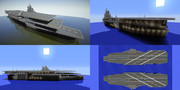 【Minecraft】アカシロ級三段空母