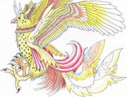 だいぶ前に描いたよくわからない鳥のモンスター