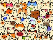 つながるネコ壁紙
