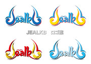 Jealkbのロゴ案。カラーバリエーション