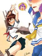 【MMD艦これ】古鷹と青葉で「Girls」踊っている最中に、青葉、見ちゃいました!