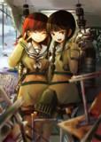 学校を襲撃する大井さんと北上さん