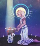GOに祈りを捧げるALISON司祭