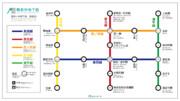 舞倉市地下鉄 路線図 2014
