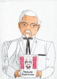 カーネルおじさんを描いてみた