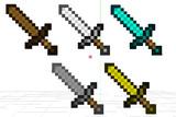 【MMDアクセサリ】Minecraft剣5種