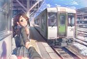 汽車と女子高生